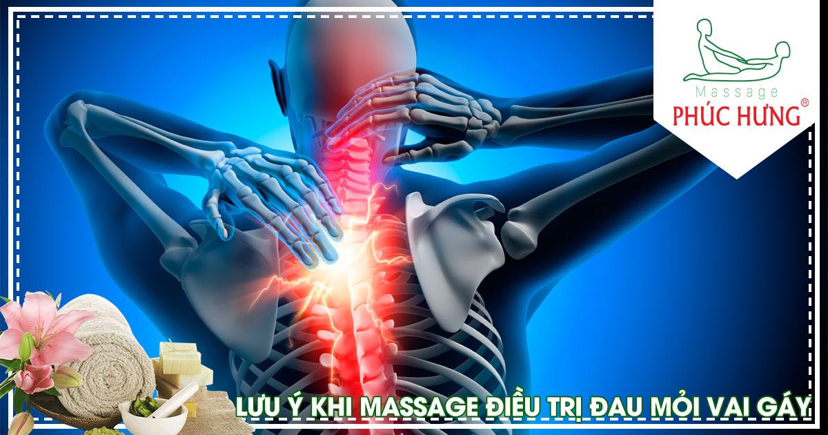 Lưu ý khi massage điều trị đau mỏi vai gáy