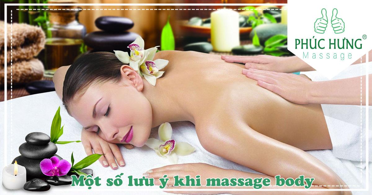 Một số lưu ý khi massage body