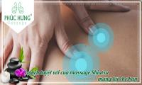 Lợi ích tuyệt vời của massage Shiatsu