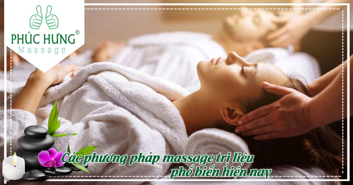 Các phương pháp massage trị liệu phổ biến hiện nay