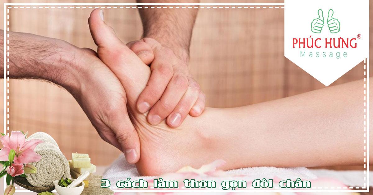 3 cách làm thon gọn đôi chân