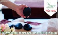 Quy trình massage đá nóng đúng cách tại Phúc Hưng Massage