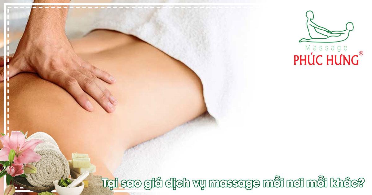 Tại sao giá dịch vụ massage mỗi nơi mỗi khác?