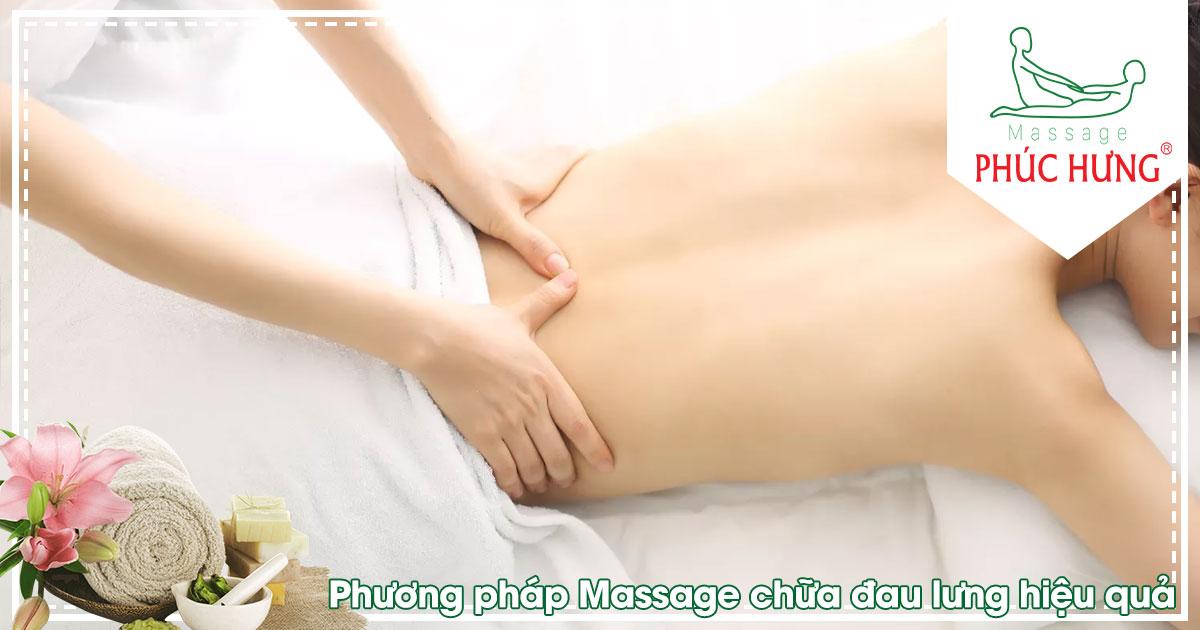 Phương pháp Massage chữa đau lưng hiệu quả