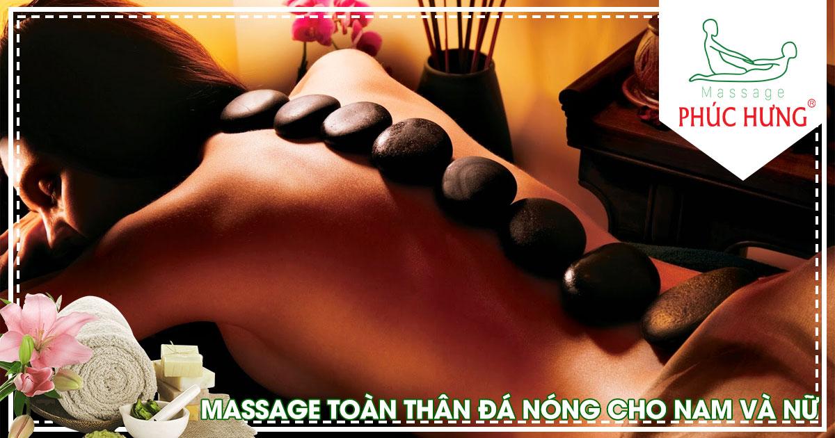 Massage toàn thân đá nóng cho nam và nữ