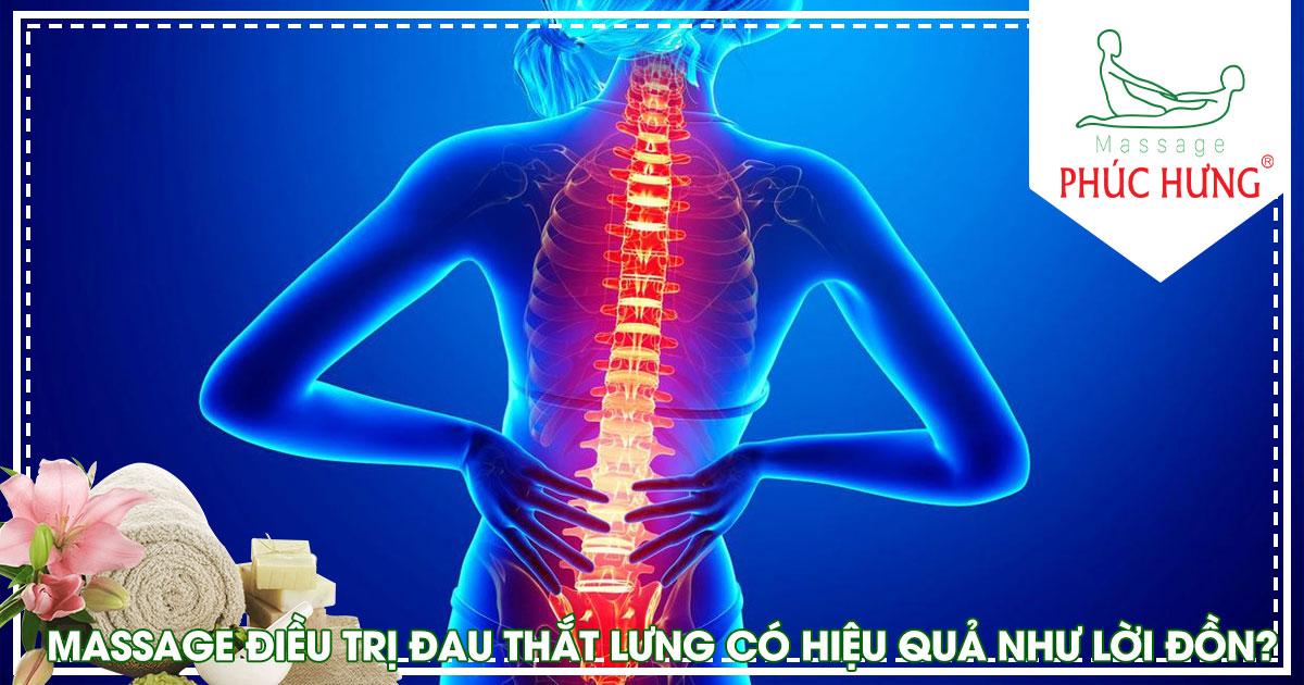 Massage điều trị đau thắt lưng có hiệu quả như lời đồn?