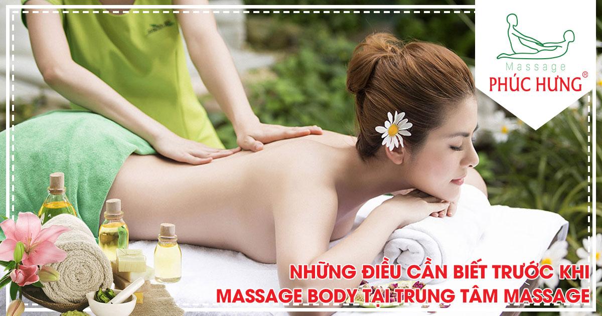 Những điều cần biết trước khi massage body tại trung tâm massage